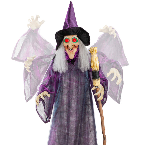 Wicked Wanda Standing Animatronic Witch w/Sounds 5ft
