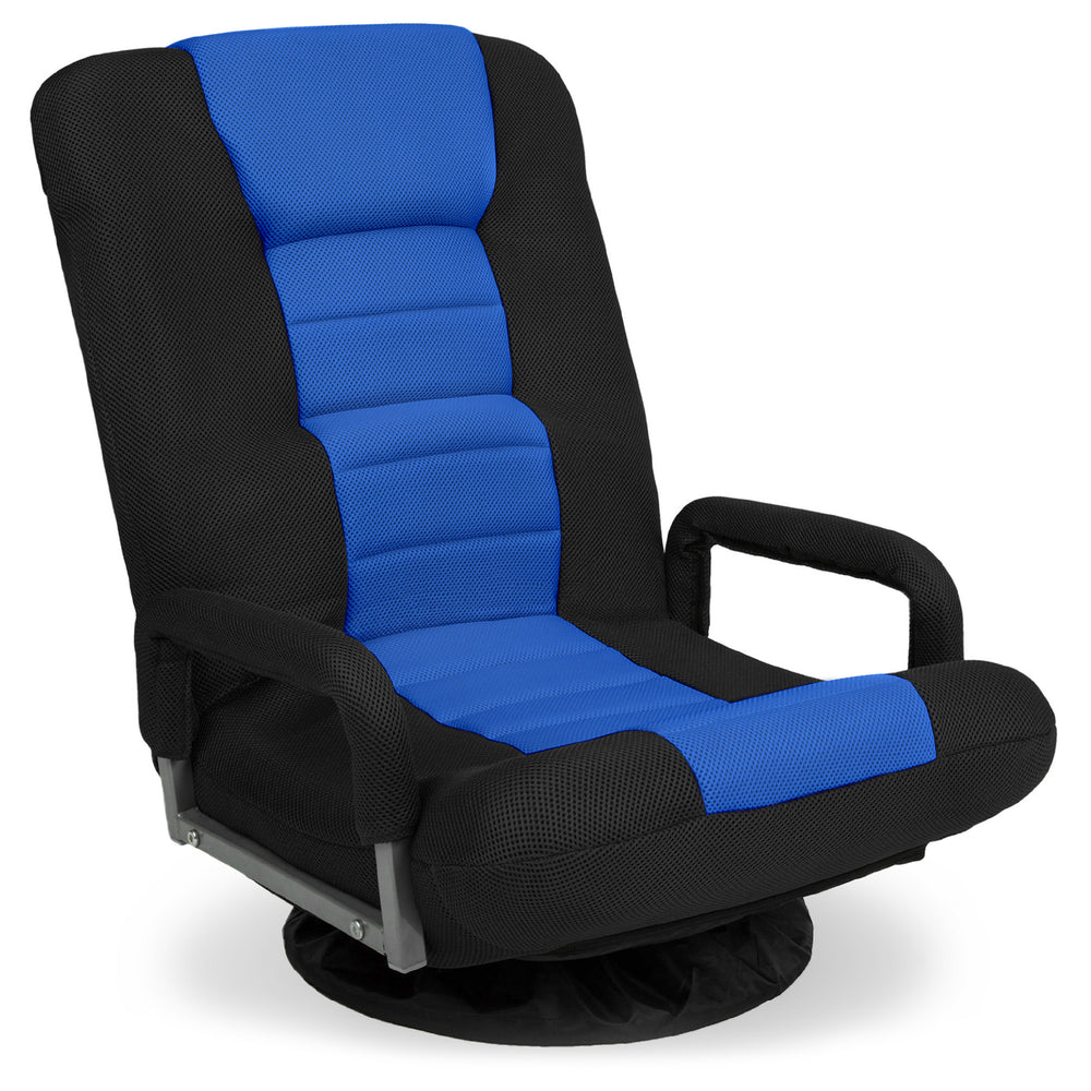 Gaming Floor Chair w/ 360-Degree Swivel, Armrest, Adjustable Backrest