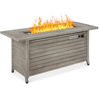Deals on BCP 50,000 BTU Rectangular Gas Fire Pit Table 57in