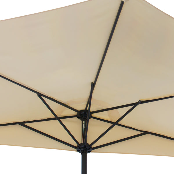 10ft Half Patio Umbrella w/ Umbrella Stand - Beige