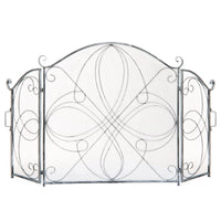 BCP 3-Panel Wrought Iron Metal Fireplace Screen Cover 55x33in Deals