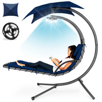 Deals on BCP Hanging LED-Lit Curved Chaise Lounge Chair w/Pillow