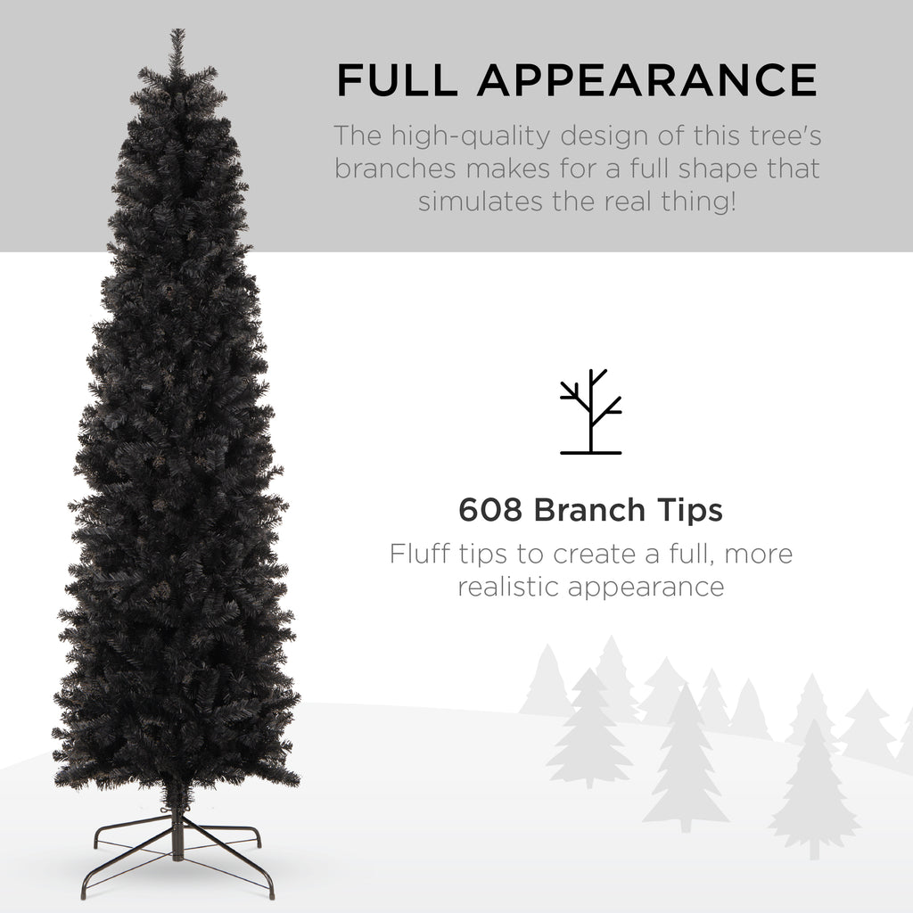 Black Artificial Pencil Holiday Christmas Tree