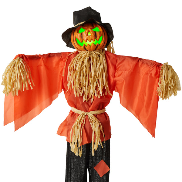 Husker The Corn Keeper Animatronic Scarecrow Halloween Decor w/ LED Eyes! .99 (REG .99) + Free Shipping at Best Choice Products!