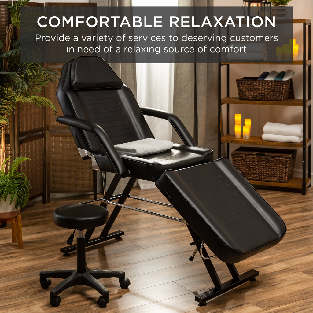 Commercial Massage Bed, Spa and Salon Chair w/ Hydraulic Stool
