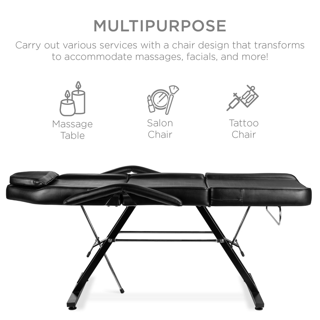 Massage Bed, Spa and Salon Chair w/ Hydraulic Stool