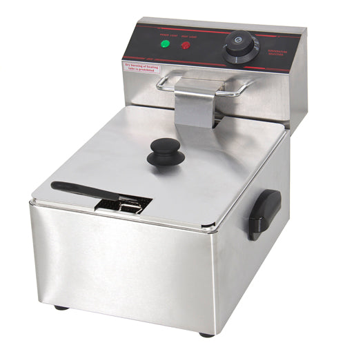 2500W Electric Deep Fryer - Silver