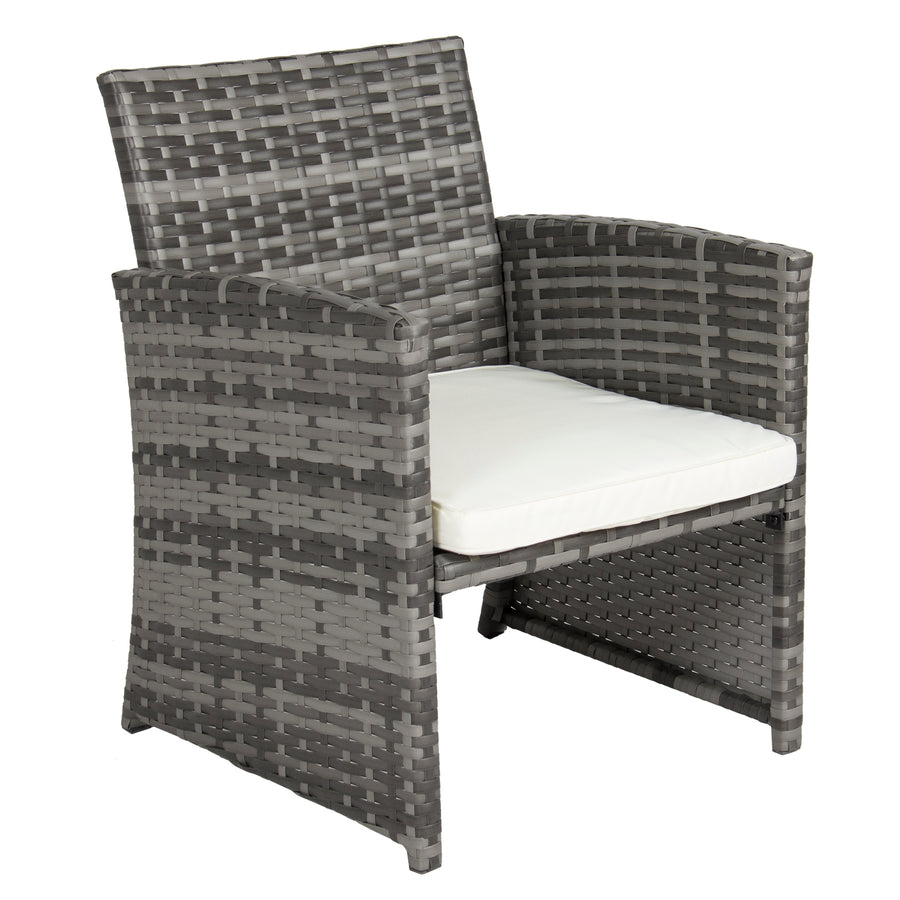 4 piece wicker sofa set gray best choice products. Black Bedroom Furniture Sets. Home Design Ideas