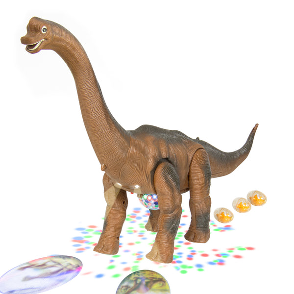 Walking Brachiosaurus Dinosaur Toy w/ Lights and Sound