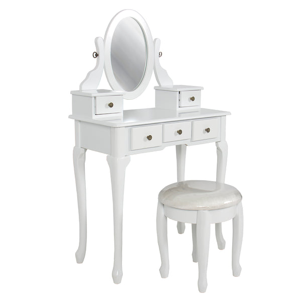Bathroom Vanity Table Set - White