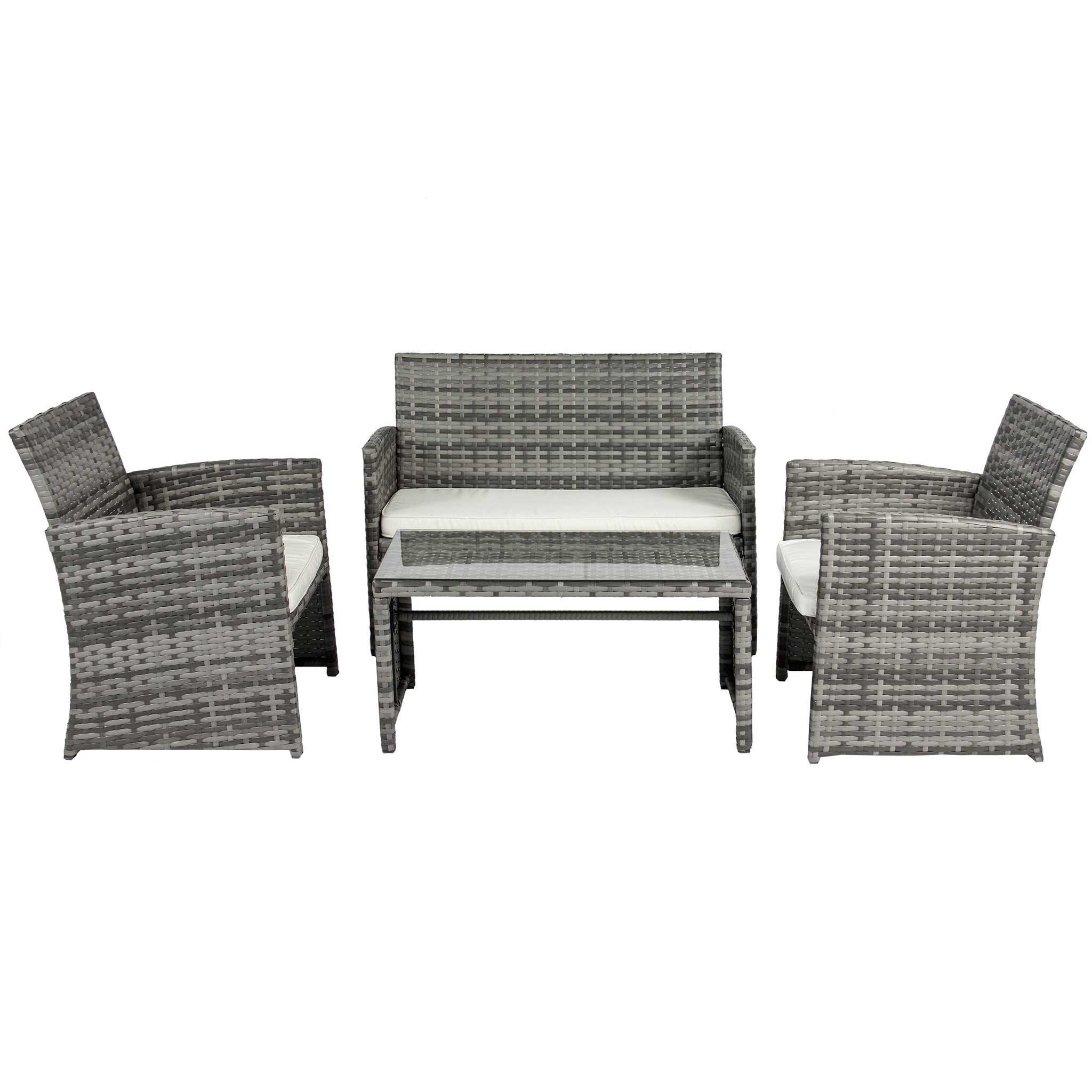 4 piece wicker sofa set gray best choice products for Outdoor furniture 4 piece