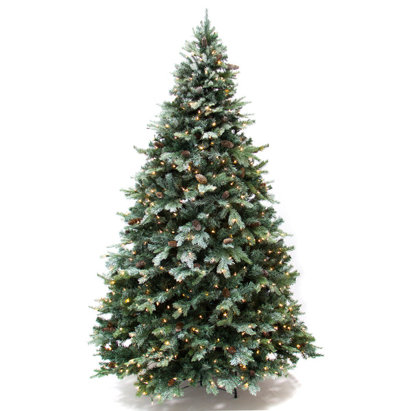 7.5FT Frosted Spruce Artificial Christmas Tree w/ UL 588 Certified Lights