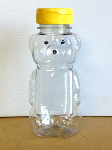 8 oz Plastic Honey Bear Bottle