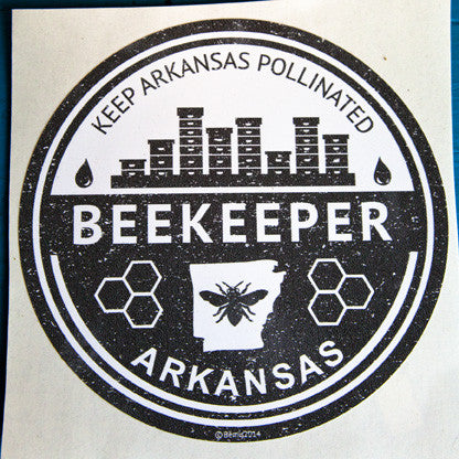 Arkansas Beekeeper Window Decal