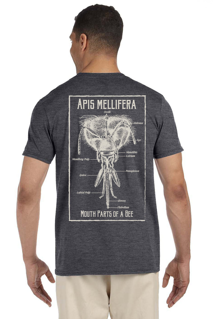 Apis mellifera mouth parts of a bee t shirt bemis for T shirt printing api
