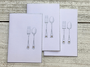 Food Note Cards, Silverware Note Cards, Foodie Cards, Foodie Note Cards, Dinner Invitation, Dinner Party, Entertaining Note Cards, Set of 8