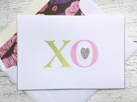 Folded Note Cards, Hugs and Kisses Note Cards, Handmade Stationery, Thank You Cards, Thank You Note Cards, Mother's Day Cards, Set of 8