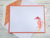 Seahorse Note Cards, Personalized Seahorse Stationery, Thank You Cards, Seahorse Stationery, Beach Note Cards, Nautical Note Cards, Set of 8