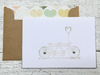 Wedding Note Cards, Save the Date Note Cards, Engagement Note Cards, Bridal Shower Note Cards, Tandem Bike Cards, Love Note Cards, Set of 8