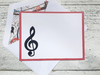Music Note Cards, Personalized Musical Note Cards, Note Cards, Thank You Cards,  Note Cards, Personalized Stationery, Set of 8