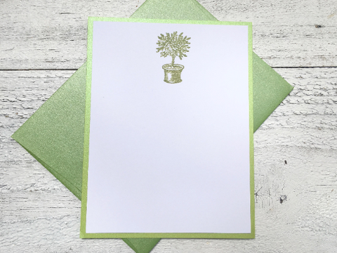 Topiary Note Cards, Garden Note Cards, Personalized Note Cards, Topiary Stationery, Garden Lovers Gift, Thank You Notes, Set of 8