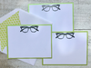 Eyeglass Note Cards, Seeing You Note Cards, Mod Note Cards, Thank You Note Cards, Retro Note Cards, Personalized Stationery, Set of 8