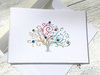 Folded Note Card, Tree of Life Folded Note Card, Holiday Card, Christmas Card, Tree of Life Stationery, Thank You Cards, Set of 8
