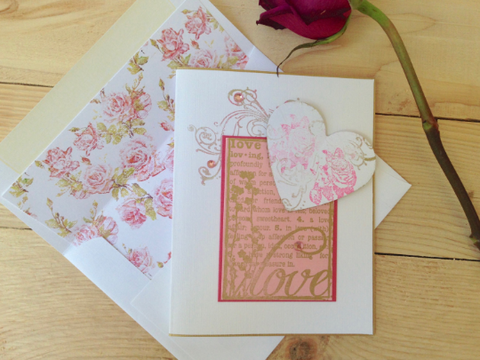 Mother's Day Cards, Note Card, Heart Greeting Card, Wedding Note Card, Thank You Cards, Vintage Note Cards, Set of 6