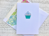 Cupcake Note Cards, Birthday Cards, Birthday Note Cards, Thank You Note Cards, Personalized Note Cards, Set of 8