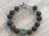 Roman Treasure, Jasper Beaded Bracelet Ancient Roman Glass  Bracelet Blue Beaded Bracelet Girlfriend Gift Women's Jewelry Mother's Day Gift