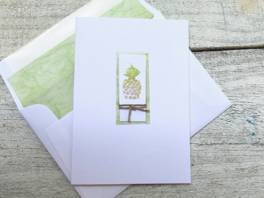 Pineapple Note Card, Pineapple Stationery, Note Cards, House Warming Gift, Welcome Hospitality Cards, Friendship Cards Hostess Gift Set of 8