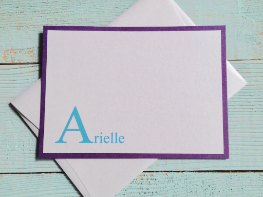 Personalized Stationery, Personalized Note Cards, Note Cards, Thank You Note Cards, Set of 10