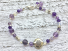Amethyst Bracelet  -Amethyst and Moonstone Bracelet - February Birthstone - Girlfriend's Gift - Women's Jewelry