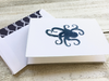 Note Cards, Octopus Stationery, Handmade Note Cards, Nautical Stationery, Beach Note Cards, Personalized Stationery, Set of 8