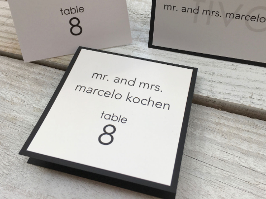 Table Cards, Table Seating Cards, Wedding Seating Cards, Escort Cards, Place Cards, Set of 10