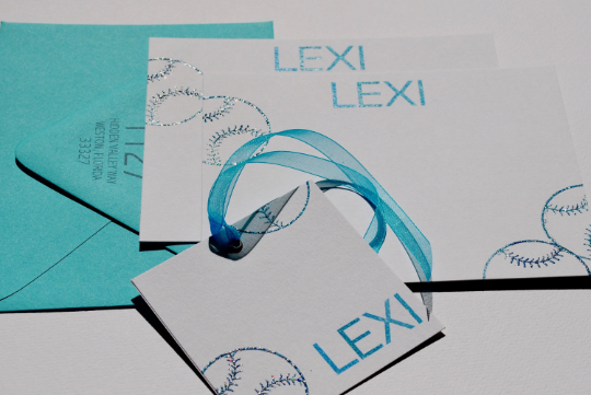 Personalized Stationery, Personalized Note Cards, Softball stationery, Softball Note Cards, Note Cards, Thank Y ou Note Cards, Set of 8