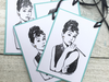 Audrey Hepburn Gift Tags, Audrey Hepburn Stationery, Thank You Gift Tags, Audrey Hepburn, Gift Tags, Party Tags, Party Accessories Set of 10