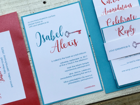 Modern Bat Mitzvah Invitation, Alice in Wonderland, Bat Mitzvah Invitation, Contemporary Invitation, Birthday Invitation, Event, Party,