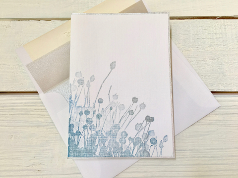 Floral Note Cards, Contemporary Note Cards, Thank You Cards, Field of Flower Note Cards, Blank Note Cards, Greeting Cards, Set of 8