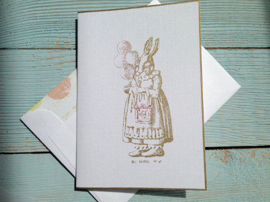 Easter Greeting Cards, Rabbit Note Cards, Baby Note Cards, Shower Note Cards, Birthday Note Cards, Personalized Note Cards, Set of 8