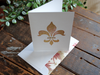 Fleur de Lis Folded Note Cards, Fleur de Lis Stationery, Folded Note Cards, Note Cards, Stationery, Personalized Note Cards, Set of 8 Cards
