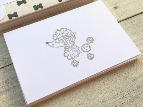 Poodle Note Cards, Dog Note Cards, Poodle Stationery, Champagne Poodle Note Cards, Personalized Stationery, Dog Lover Stationery, Set of 8