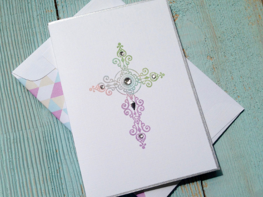 Cross Note Cards, Confirmation Note Cards, Religious Note Cards, Personalized Note Cards,  Set of 8