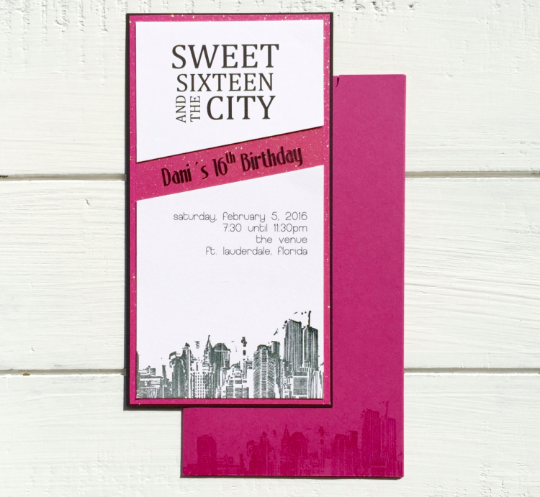 Custom Invitation, Sweet 16 invitation, Vertical Invitation, All Occasion Invitation, Handmade Invitation, Invitation