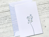 Floral Note Cards, Garden Greeting Cards, Bouquet of Flowers Note Cards, Thank You Cards, Sympathy Cards, Modern Note Cards, Set of 8