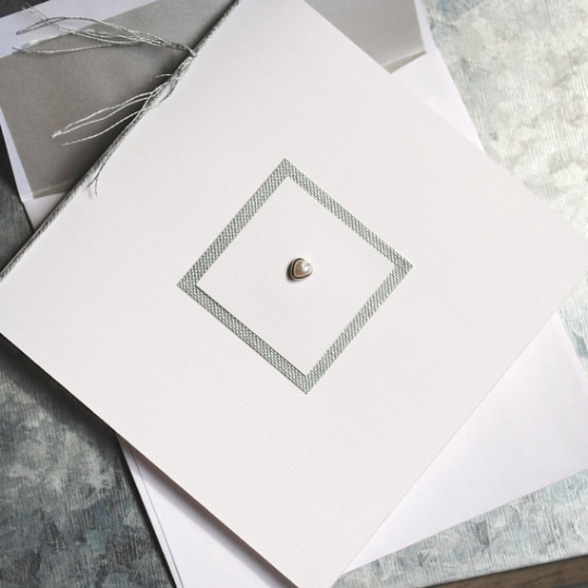 Pearl Special Occasion Card with Matching Velum Lined Envelope, Dripping with Elegance, 5