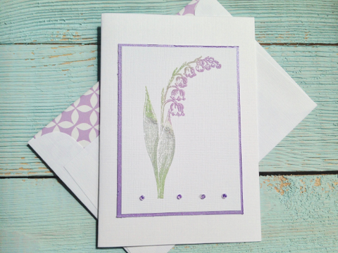 Floral Note Cards, Spring Note Cards, Sympathy Note Cards, Lily of the Valley Note Cards, Personalized Stationery  Set of 8