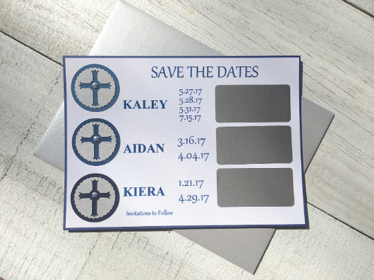 Save the Date Announcement, Save the Date Scratch Off, Religious Save the Date,  Save the Date, Save the Date Party, Announcements, 5.