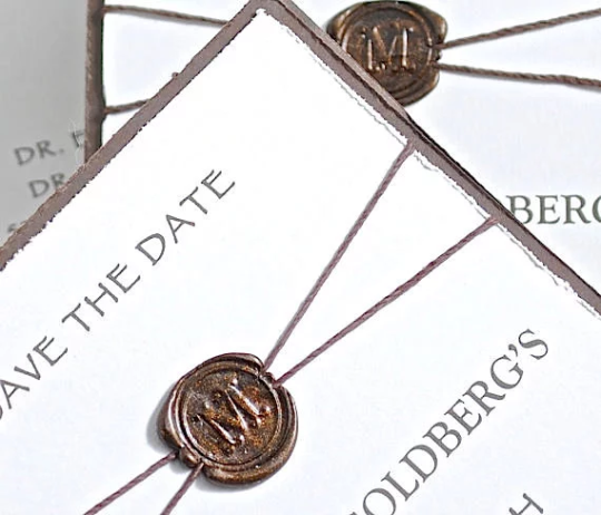 Save the Date Announcement, Invitation, Save the Date, Custom Designed Invitation, Wax Seal Invitation, Handmade Invitation