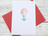 Hot Air Balloon Note Cards, Travel Cards, Save the Date Cards, Hot Air Ballon Stationery, Birthday Party, Congrats,   Personalized Set of 8